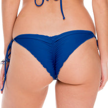 WANTED AND WILD - Wavey Ruched Back Brazilian Tie Side Bottom