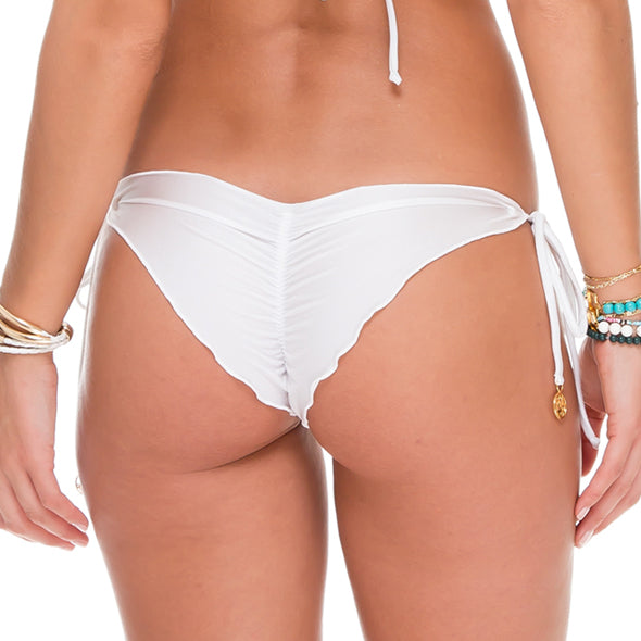 SAILOR'S KISS - Wavey Ruched Back Brazilian Tie Side Bottom