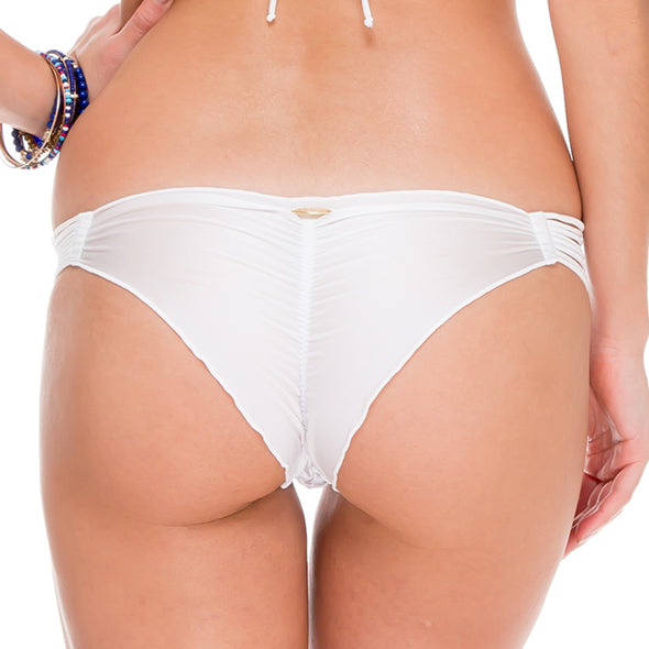 SAILOR'S KISS - Strappy Brazilian Ruched Back Bottom