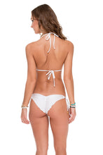 SAILOR'S KISS - Triangle Top & Wavey Ruched Back Brazilian Tie Side Bottom • White