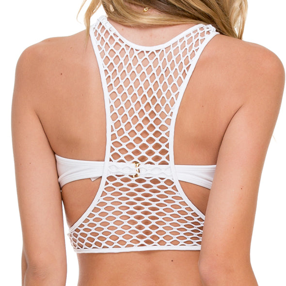 SAILOR'S KISS - Fishnet Sporty Top