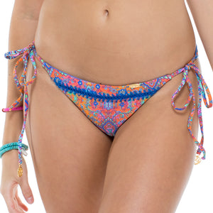 CANDELA - Wavey Ruched Back Brazilian Tie Side Bottom