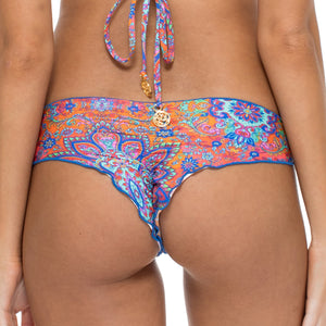 CANDELA - Wavey Ruched Back Brazilian Bottom
