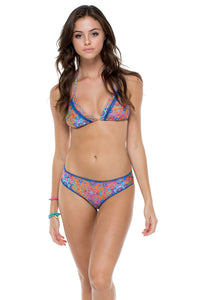 CANDELA - Triangle Top & Stitched Full Ruched Back Bottom • Multicolor