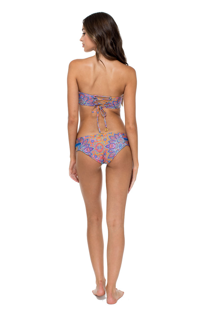 CANDELA - Cut Out Underwire Top & Stitched Straps Moderate Bottom • Multicolor