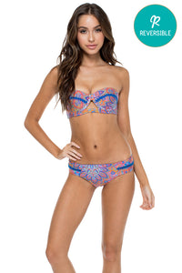 CANDELA - Cut Out Underwire Top & Stitched Straps Moderate Bottom • Multicolor (874536239148)