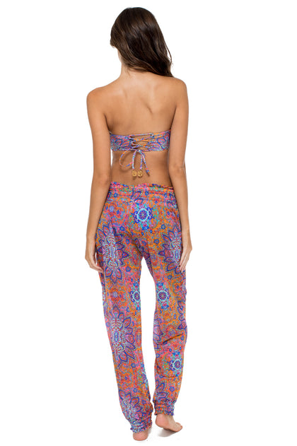 CANDELA - Cut Out Underwire Top & Smocked Gipsy Pant • Multicolor