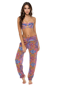 CANDELA - Cut Out Underwire Top & Smocked Gipsy Pant • Multicolor (874536108076)