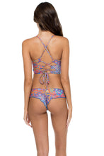 CANDELA - Stitched Bustier Top & Wavey Ruched Back Brazilian Bottom • Multicolor