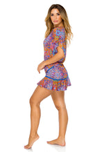 CANDELA - Playera Ruffle Dress • Multicolor