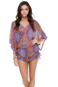 CANDELA - Cabana V Neck Dress • Multicolor (874536075308)
