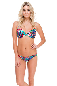 LIKE A FLAME - Underwire Adjustable Top & Full Ruched Back Bottom • Multicolor (874455629868)