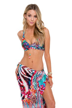 LIKE A FLAME - T Back Bra Top & Pareo • Multicolor
