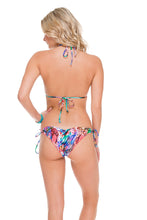 GORGEOUS CHAOS - Wavey Triangle Top & Wavey Ruched Back Brazilian Tie Side Bottom • Multicolor