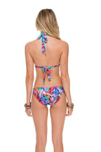 GORGEOUS CHAOS - Triangle Halter Top & Full Ruched Back Bottom • Multicolor
