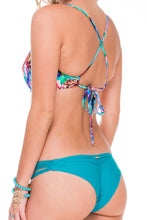 GORGEOUS CHAOS - Underwire Adjustable Top & Strappy Brazilian Ruched Back Bottom • Exuma