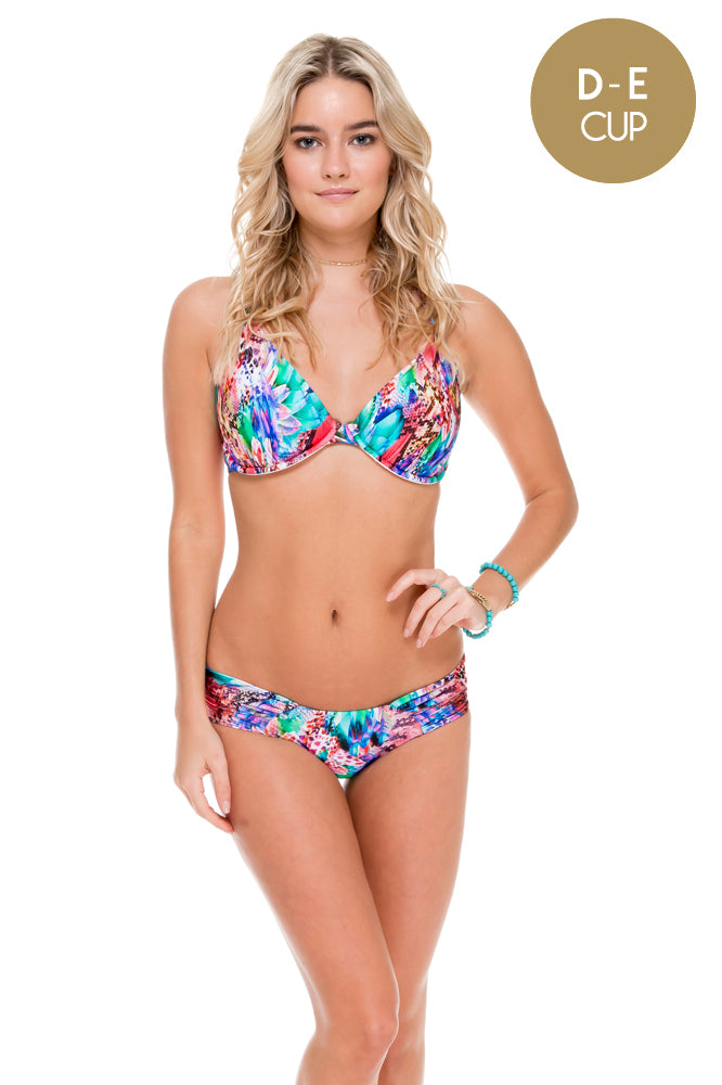 GORGEOUS CHAOS - Underwire Adjustable Top & Moderate Bottom • Multicolor