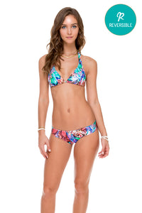 GORGEOUS CHAOS - Halter Top & Tab Sides Full Bottom • Multicolor