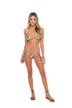 WILD HEART - Wavey Triangle Top & Wavey Ruched Back Brazilian Tie Side Bottom • Multicolor
