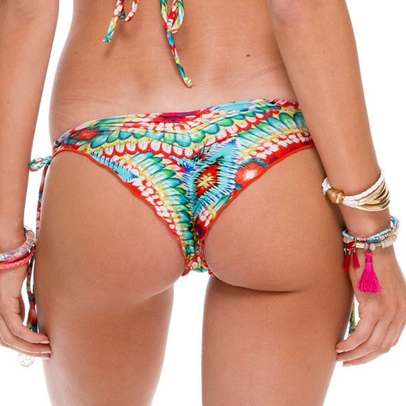 WILD HEART - Wavey Ruched Back Brazilian Tie Side Bottom