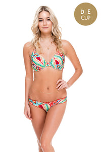 WILD HEART - Underwire Adjustable Top & Full Ruched Back Bottom • Multicolor
