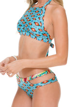 WILD HEART - Born Free Engineered Reversible Hight Neck Top & Split Side Cheeky Reversible Bottom • Multicolor