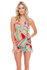 WILD HEART - T Back Romper • Multicolor