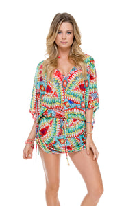 WILD HEART - Cabana V Neck Dress • Multicolor