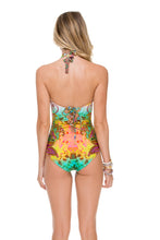 CALLEJERA - Glam High Neck Engineered One Piece • Multicolor