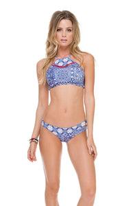 NAUGHTY GIRL - Hi Halter Top & Sexy Side Moderate Bottom • Multicolor (874459267116)