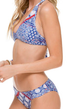 NAUGHTY GIRL - Trimmed Halter Top & Full Bottom • Multicolor