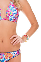 BEAUTIFUL MESS - Triangle Halter Top & Full Bottom • Multicolor