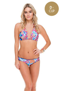 BEAUTIFUL MESS - Triangle Halter Top & Full Bottom • Multicolor (874414800940)