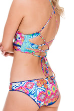 BEAUTIFUL MESS - Stitched Bustier Top & Full Bottom • Multicolor