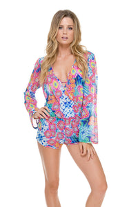 BEAUTIFUL MESS - That's A Rap Romper • Multicolor