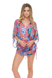 BEAUTIFUL MESS - Cabana V Neck Dress • Multicolor