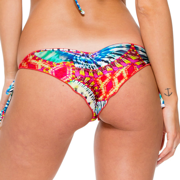 ENCANTADORA - Wavey Ruched Back Brazilian Tie Side Bottom