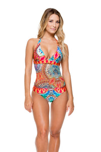 ENCANTADORA - Crochet Center One Piece • Multicolor