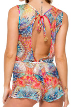 ENCANTADORA - Scalloped Romper • Multicolor