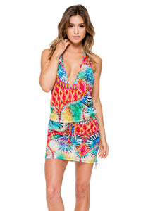 ENCANTADORA - T Back Mini Dress • Multicolor