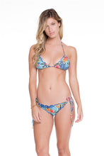 INKED BABE - Wavey Triangle Top & Wavy Ruched Back Brazilian Tie Side Bottom • Multicolor