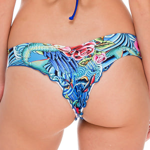 INKED BABE - Wavey Ruched Back Brazilian Bottom