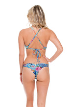 INKED BABE - Underwire Adjustable Top & Strappy Brazilian Ruched Back Bottom • Multicolor