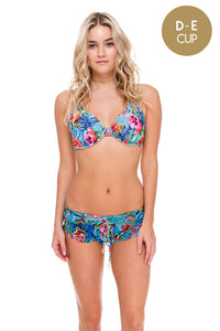 INKED BABE - Underwire Adjustable Top & Inked Drawstring Shorts • Multicolor (874452221996)