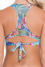 INKED BABE - Ink Mesh Back Underwire Top & Fishtail Ink Mesh Full Bottom • Multicolor