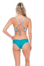 INKED BABE - Ink Mesh Reversible Sporty Top & Wavey Brazilian Ruched Back Bottom • Exuma
