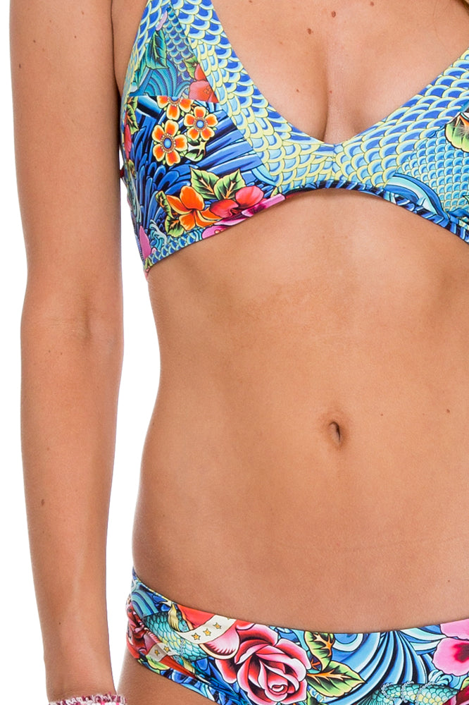 INKED BABE - Ink Mesh Reversible Sporty Top & Buns Out Ink Mesh Reversible Bottom • Multicolor
