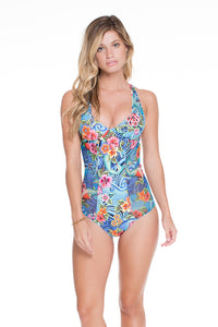 INKED BABE - Ink Mesh One Piece • Multicolor