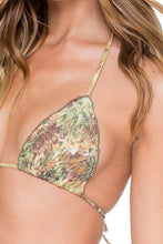 WORLD ON FIRE - Wavey Triangle Top & Wavey Ruched Back Brazilian Tie Side Bottom • Multicolor