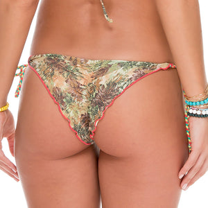 WORLD ON FIRE - Seamless Front Wavey Ruched Back Brazilian Tie Side Bottom